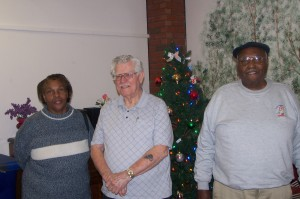 Volunteers of and participants at Blue Street Senior Center site.