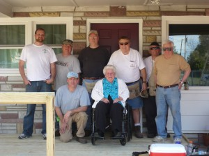 Fayetteville Area Operation Inasmuch & Cumberland County through a biannual, hands-on volunteer Blitz Day, built  a ramp for Ms. Maria Gewert.