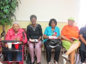 Mary Jackson, Betty Daughtry, Mildred Webb, & Cora Atkins, RSVP Volunteers