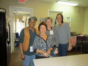 Volunteers at our Hope Mills location: Cathy, Josephine, Linda & Lu.