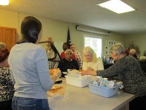 More seniors receiving meals at our Hope Mills location.