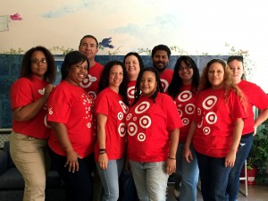 Local Target volunteers help with meals delivery in October.